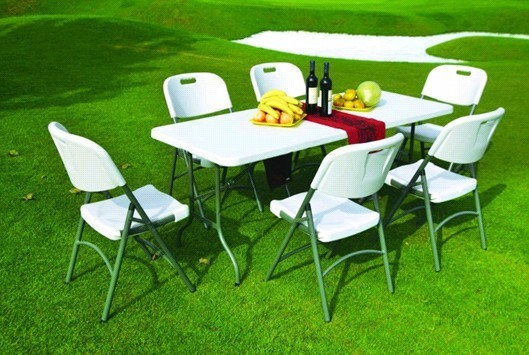 China White Plastic Folding Table and Folding Chair KLY T1002 China Foldi