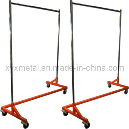 Steel Clothing Rolling Z Base Garment Cloth Metal Clothes Racks