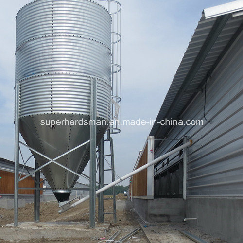 Automatic Poultry Breeding Equipment Feed Silo by Galvanized Steel
