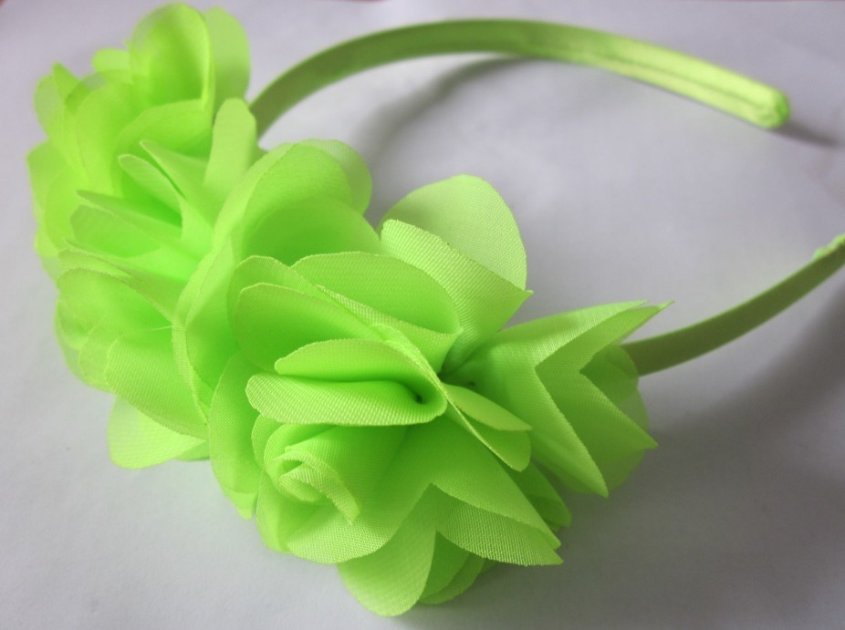 Polyester Woven Fabric Covered Plastic Headwrap with Flower (DHB1361)