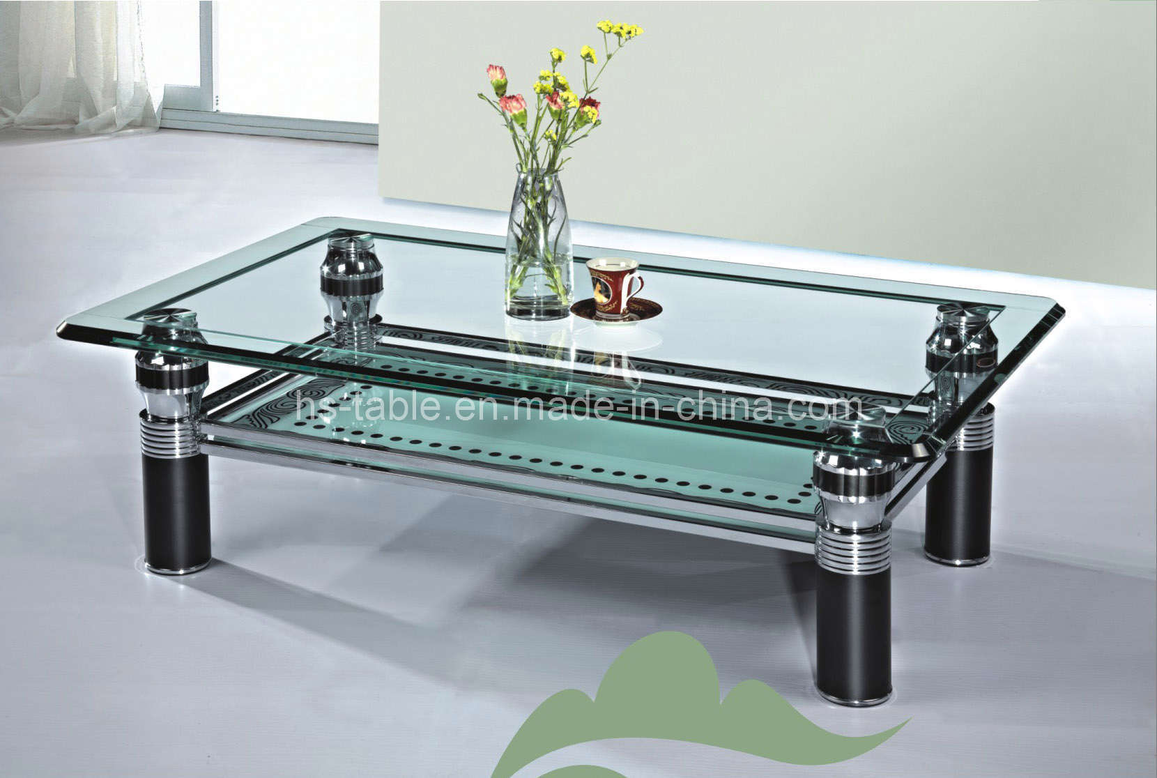 China glass furniture coffee table