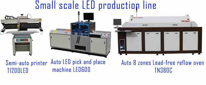 Small LED Production Line (T1200LED, LED600, TN380C) , LED Strip, LED Tube, LED Street Light