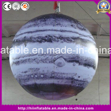 Factory Price Sun, Mars, Saturn Solar System Inflatable Nine Planet Balloon Inflatable Planet with LED Light