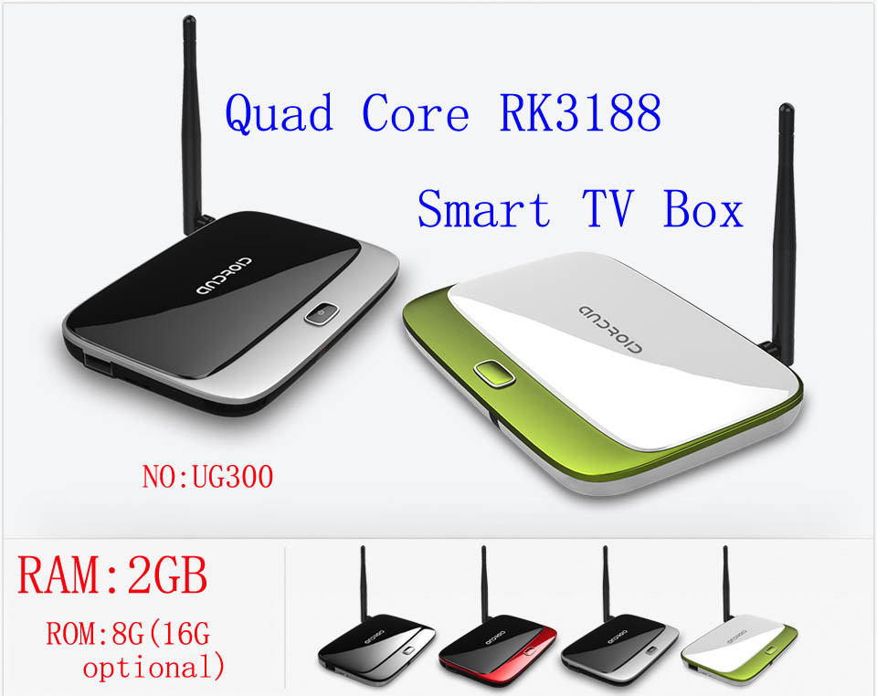 Newest Arrival 1.6GHz 2G+8G Android4.2 Quad Core RK3188 Smart TV Box