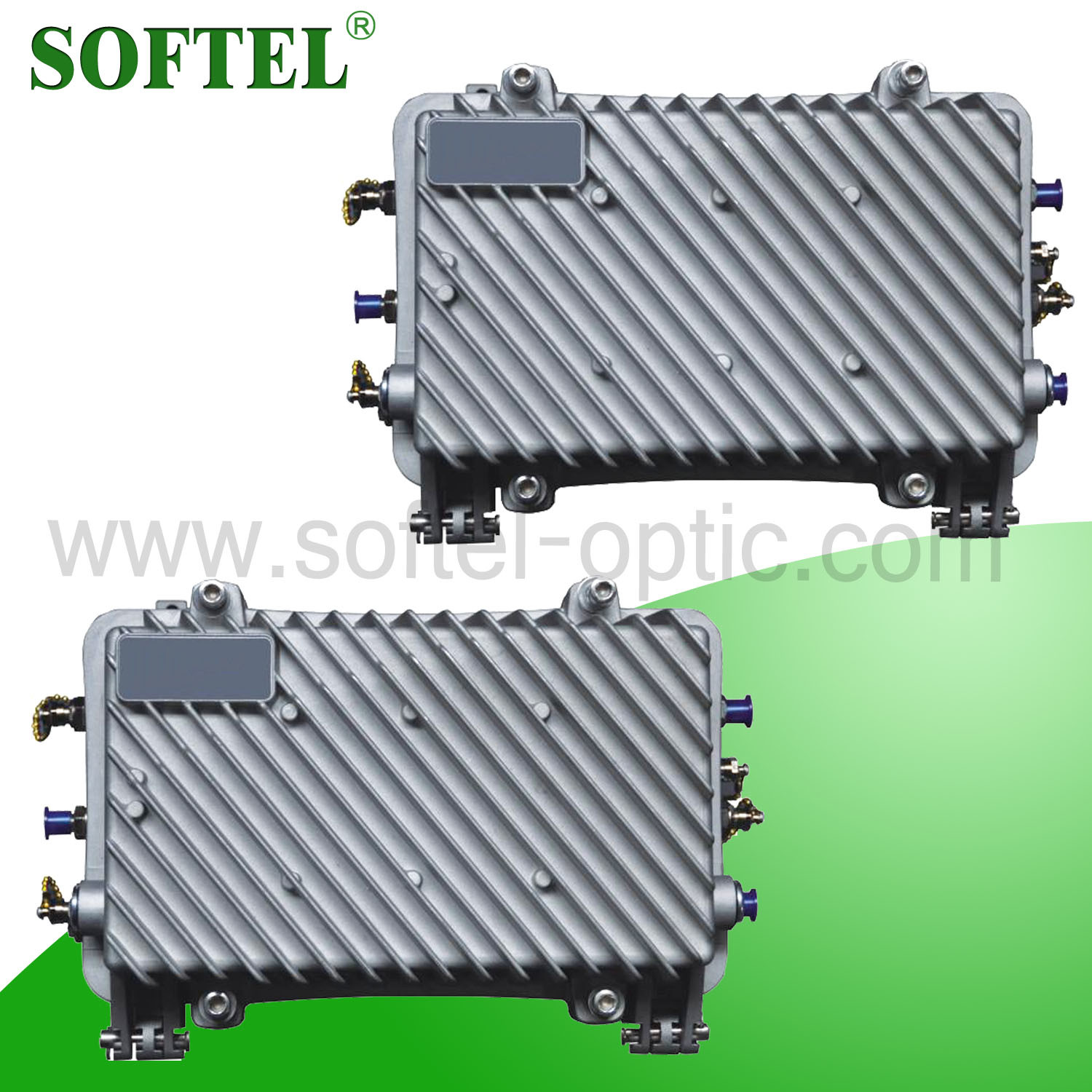 SA1012R 1GHz Two Way Bi-Directional Outdoor CATV Trunk Ampilfier with Reverse 12dB for HFC Network