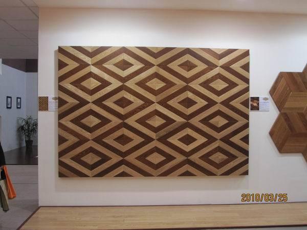 Solid wood mosaic flooring