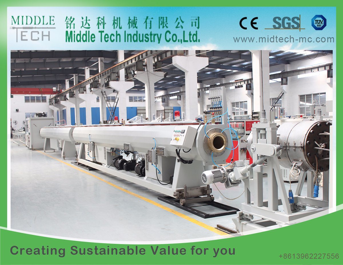 (CE) Plastic Extruder PVC/PE/PPR Water& Electrical Pipe, Profile (haul off, cutter, winding) Extrusion and Making Machine