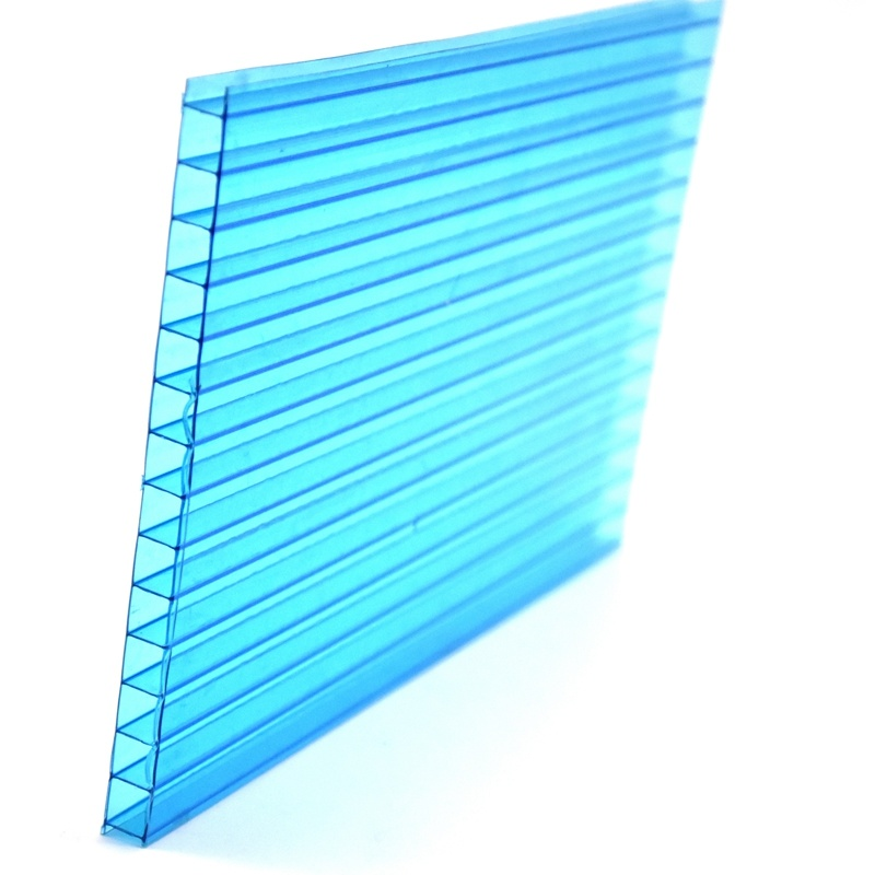 Transparent Twin Wall Polycarbonate PC Plate with UV Coating