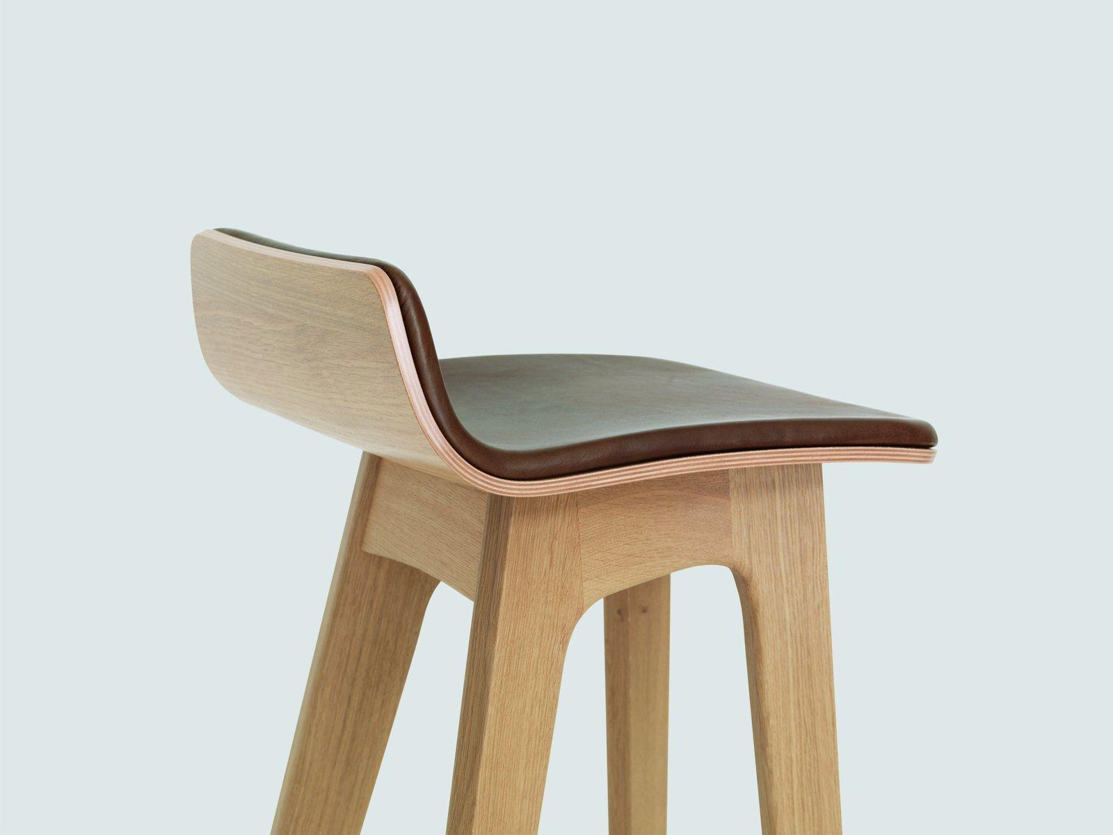Modern Solid Wood Morph Bar Stool