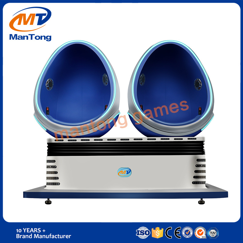 High Quality Amusement Game Virtual Reality Dynamic 9d Egg Vr Cinema Simulator Factory