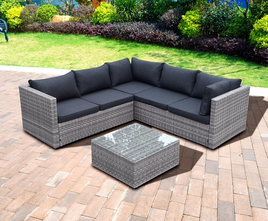 Modern Patio Garden Leisure Flat Wicker Aluminum Offce Home Hotel Outdoor Rattan Sofa (J721KD)