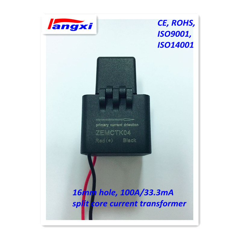 3000: 1 16mm 100A/33.3mA 0.5class Split Core Current Transformer