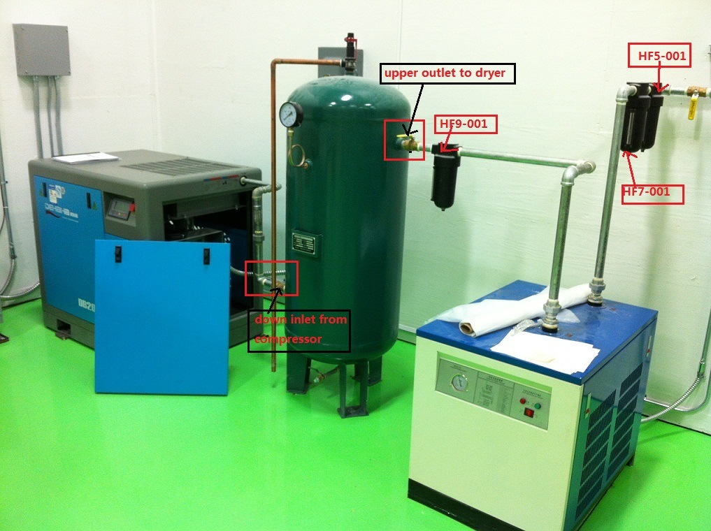 1m3/Min Refrigeration Screw Air Dryer for Compressed Air System