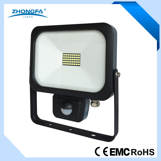 Ce EMC RoHS Approved 20W IP54 LED Lamp with PIR Sensor