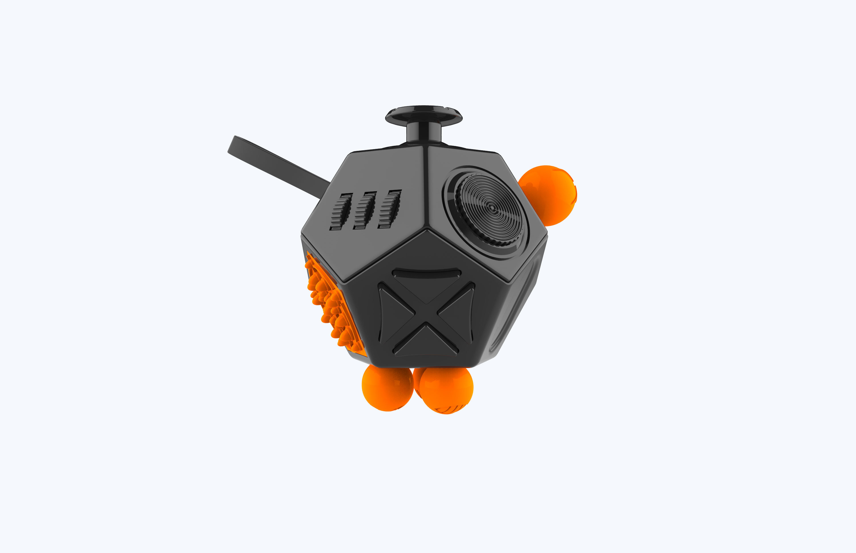 Best Quality Plastic 12 Sided Stress Release Fidget Cube in Stock