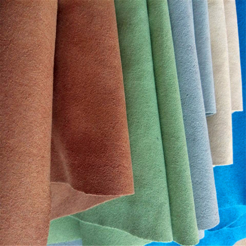 Suede Leather Real Microfiber Leather for Shoes Lining Bags Belts Hw-1574