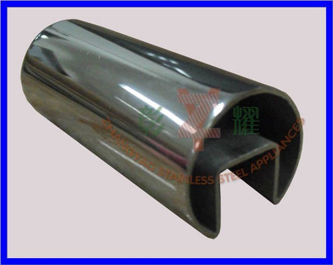304, 316 Slot Stainless Steel Tube with Glass