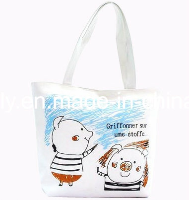 Shopping Canvas Tote Fashion Bag for Woman
