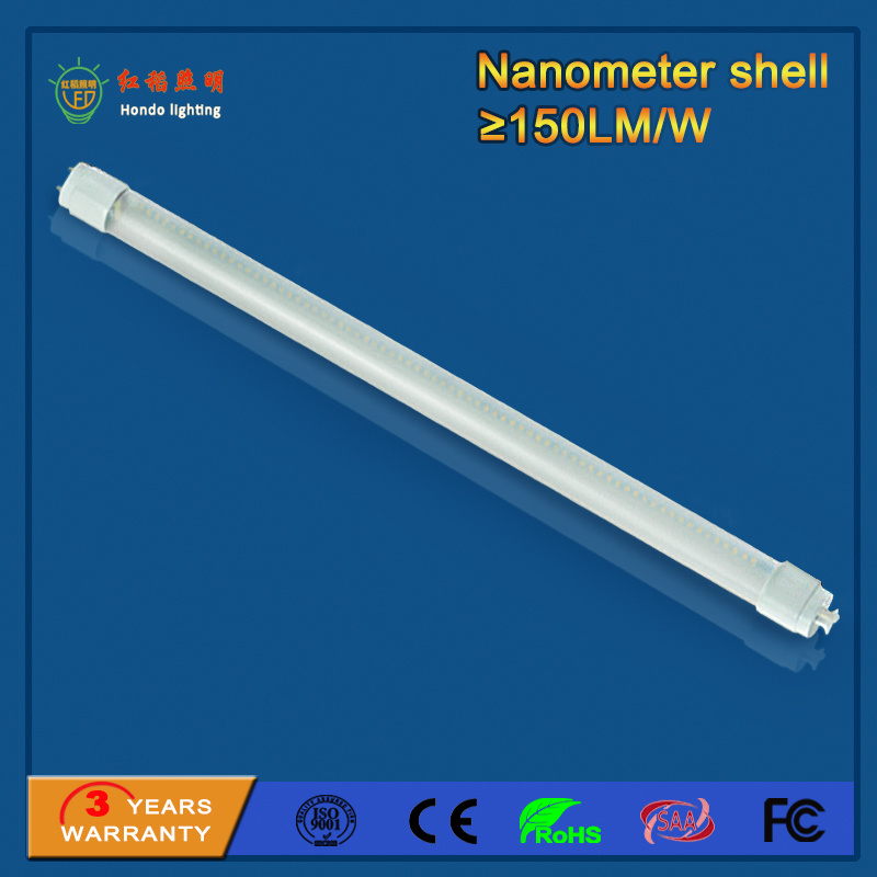 Fluorescent SMD2835 1200mm 18W 150lm/W T8 LED Tube Light for Parking