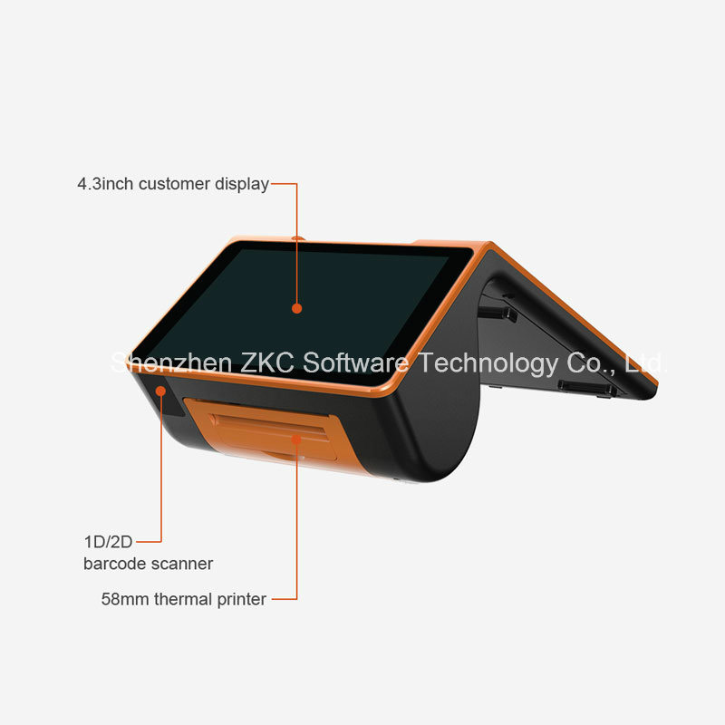 Zkc900 Mobile POS Terminal Machine with Printer/Barcode Scanner
