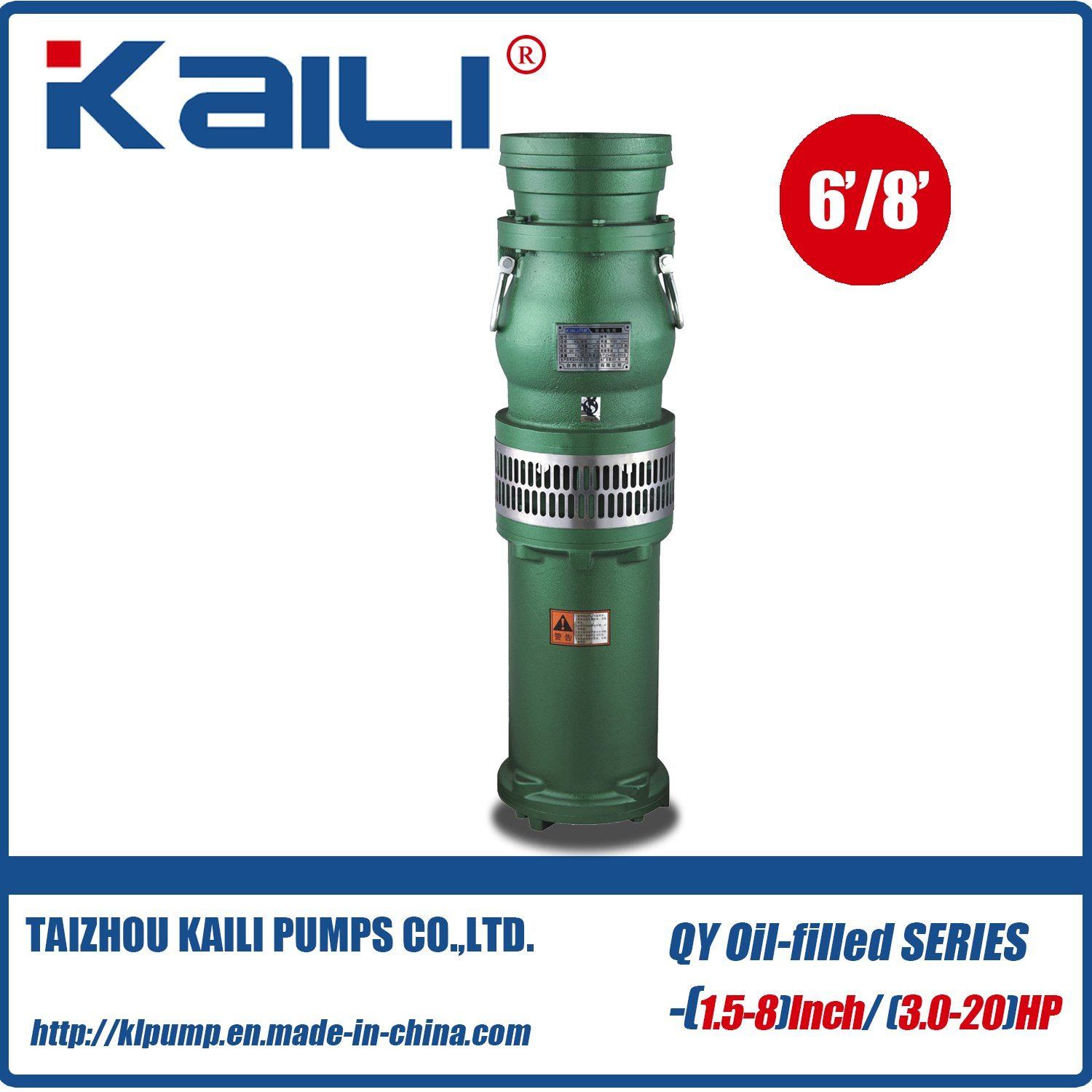 QY Oil-Filled Submersible Pump Clean Water Pump(single stage)