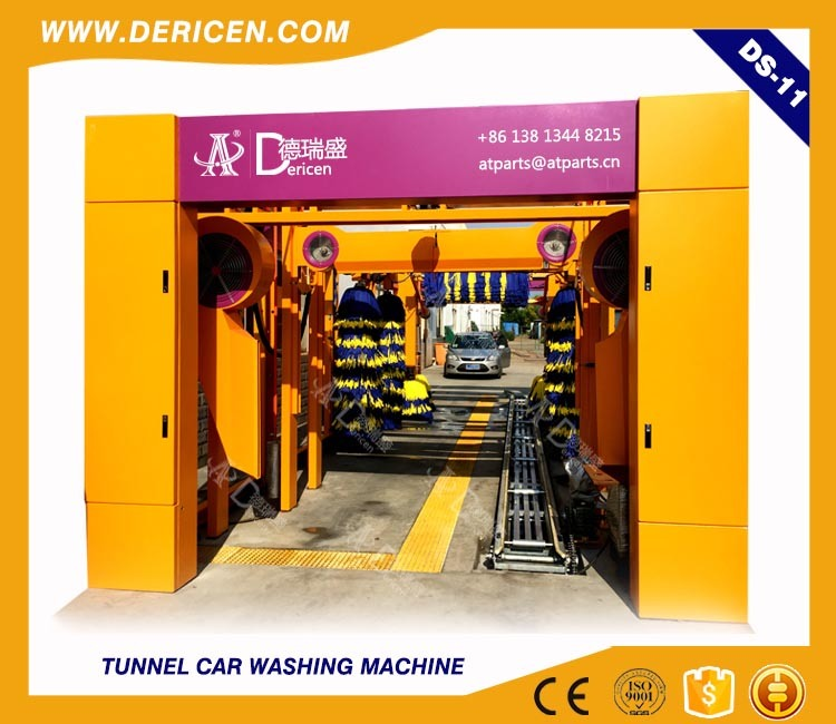 Dericen Ds11 Automatice Tunnel Car Wash Equipment with Dry Function and Tire Wash Brushes