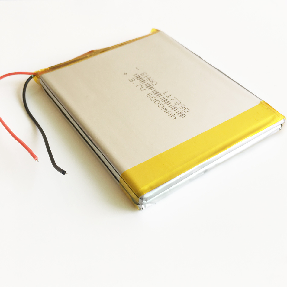117390pl 3.7V 6000mAh Lipo Rechargeable Battery for Pad GPS PSP DVD Power Bank Tablet PC
