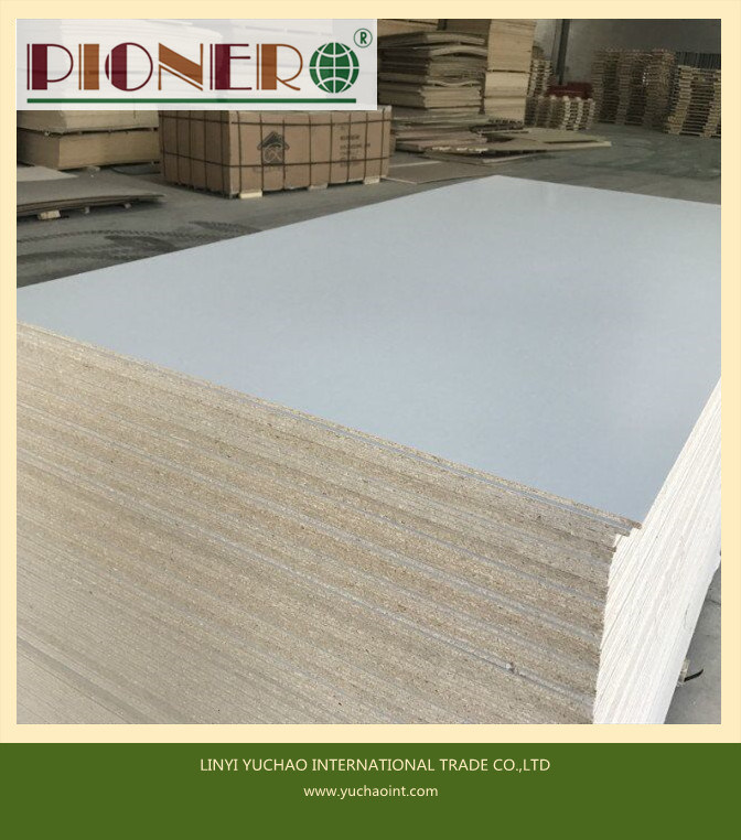 8mm Gray Color Melamine Coated Particleboard for Dubia
