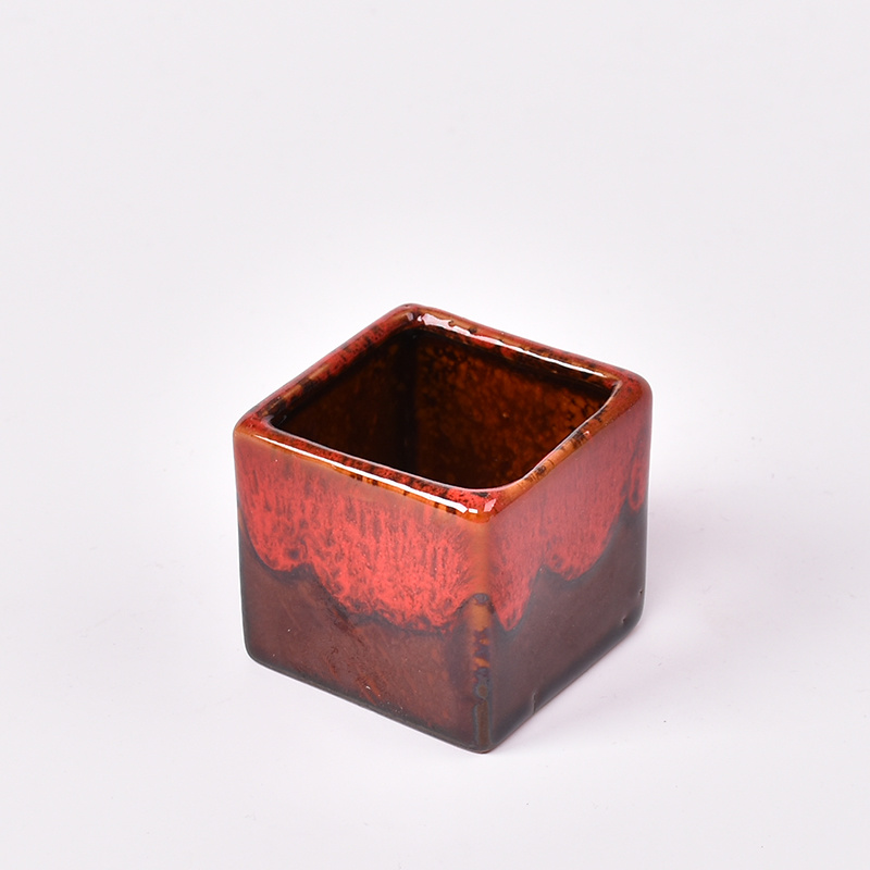 Flambe Glazed Ceramic Small Flower Pot, Bonsai Pots Wholesale