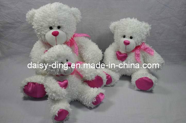 3 Sizes Plush Big Bear Skins with Ribbon