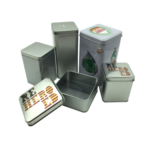 Square Tin Can Tea Packaghing Wholesale Metal Gift Box for Christmas