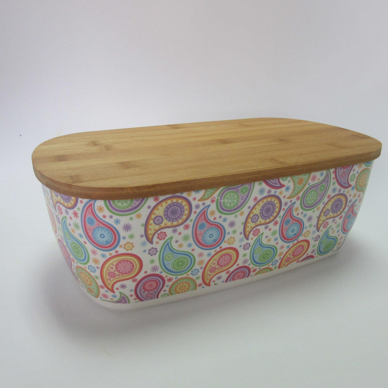 Bamboo Fiber Bread Bin Bread Box for Kitchen Food Container Kitchenware