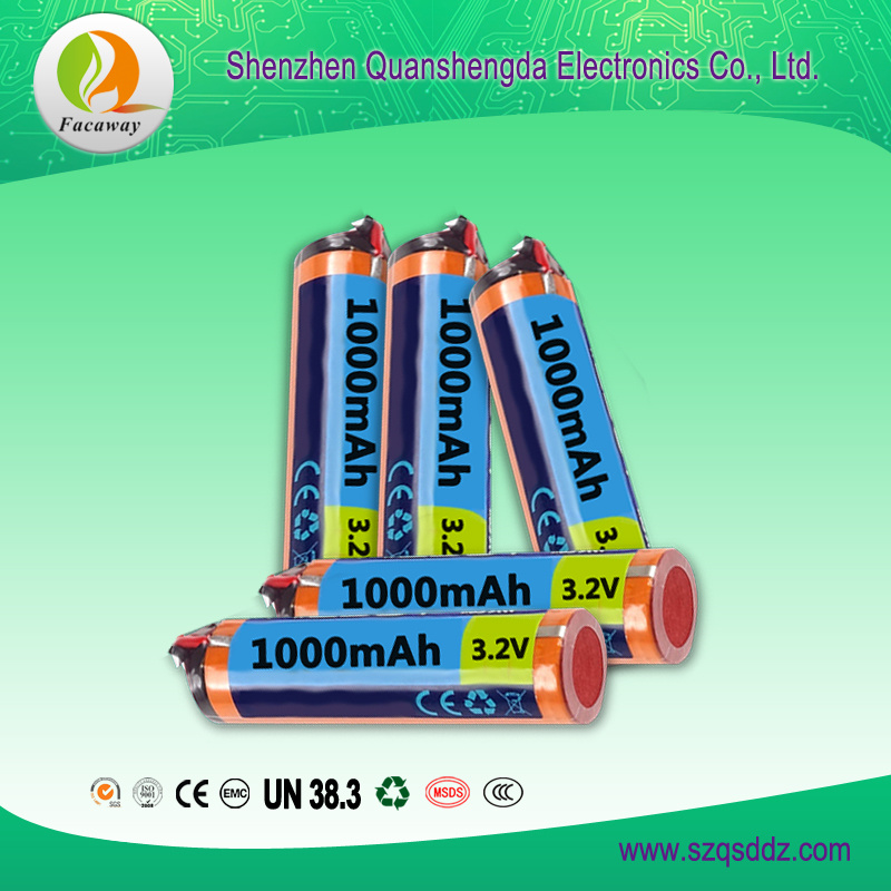 (QSD-Y0013) 3.2V 1000mAh 18650 Li-ion Battery China
