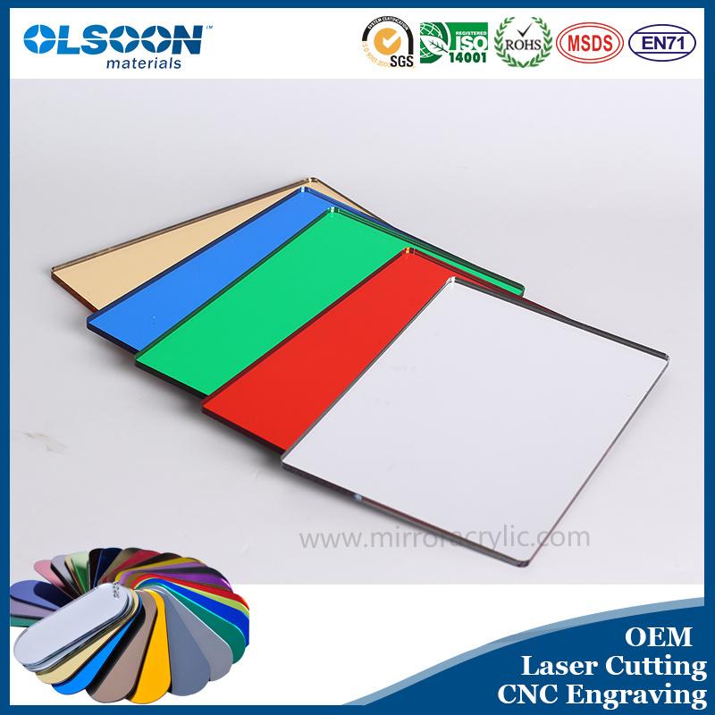 Guangzhou Manufacture Olsoon PMMA Sheet Mirror Acrylic Silver Mirror Sheet