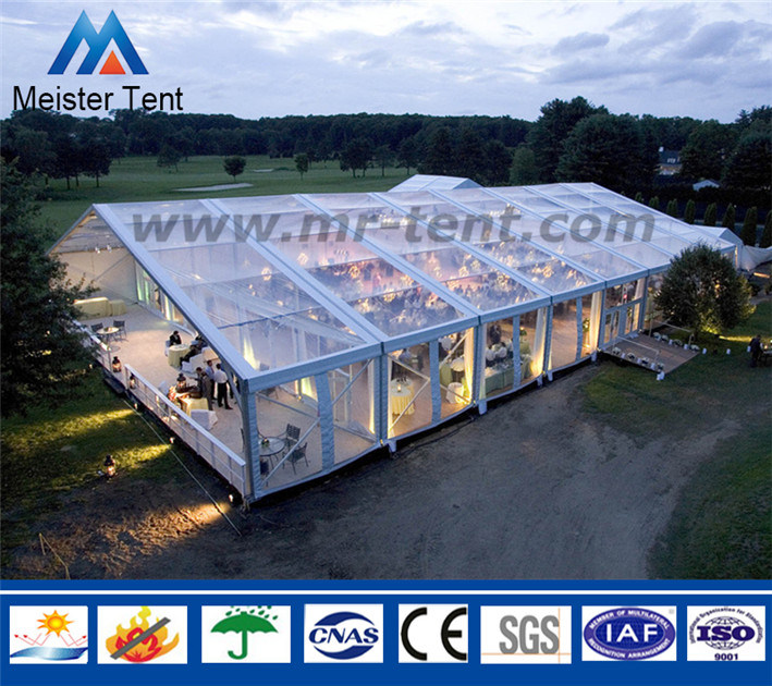 Large Clear Span Outdoor Transparent Roof Modular Wedding Party Tents