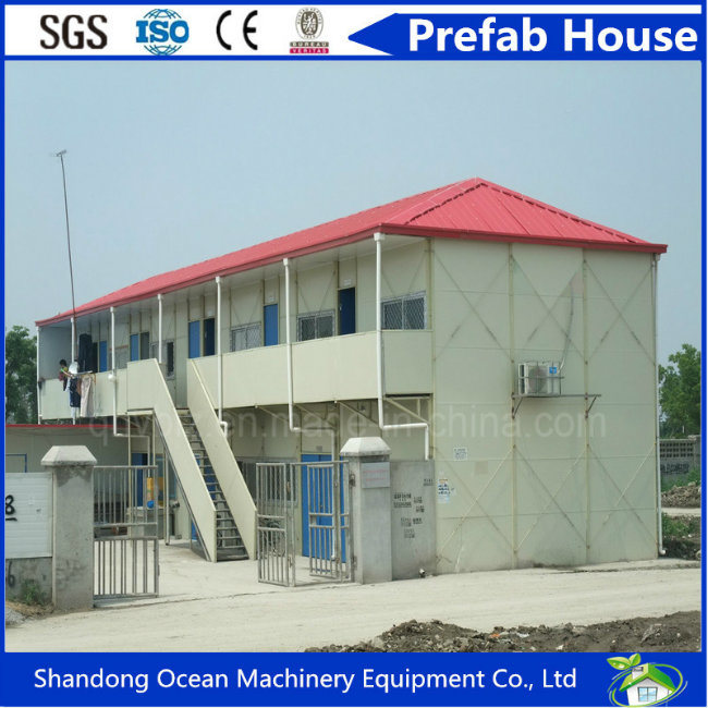 2017 Hot Sale Fashionable Design Prefab House Modular House of Light Steel Structure and Sandwich Panels for Safe and Comfortable Living