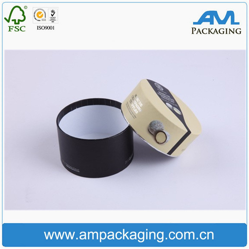 Small Product Packaging Cylindrical Round Cardboard Socks Custom Box