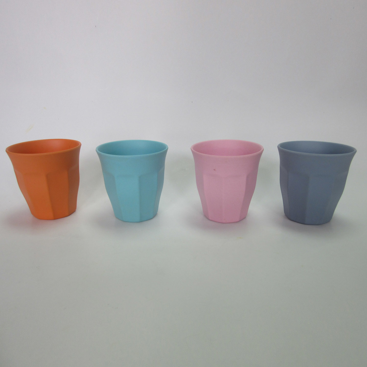 Bamboo Fiber Water Octagonal Mug Solid Color Table Ware