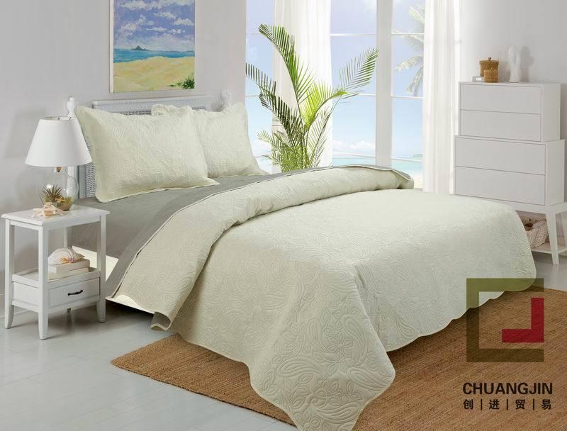 100%Polyester Ultrasonic Quilt (BEDDING SET) Bicolors