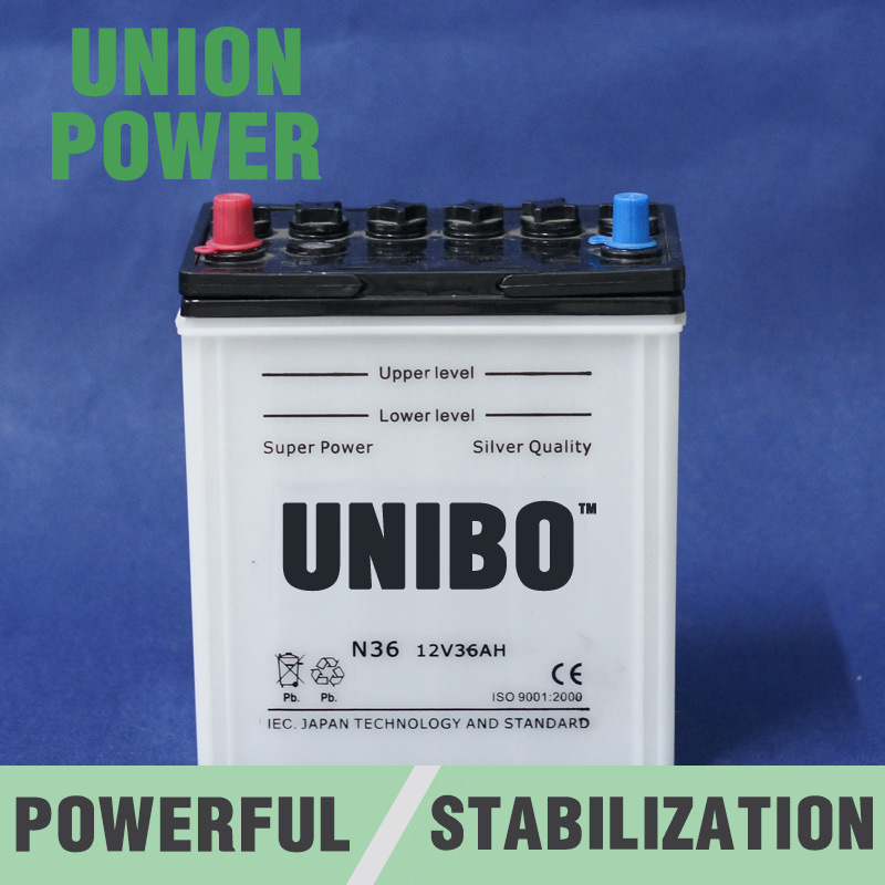 Dry Charged Battery JIS N36 12V36ah High Quality Auto Battery