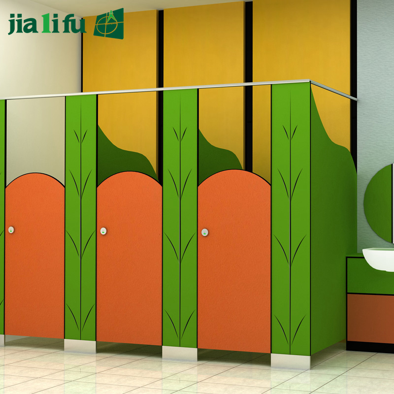 Jialifu Compact Laminate Panel Kindergarten Bathroom Cubicle