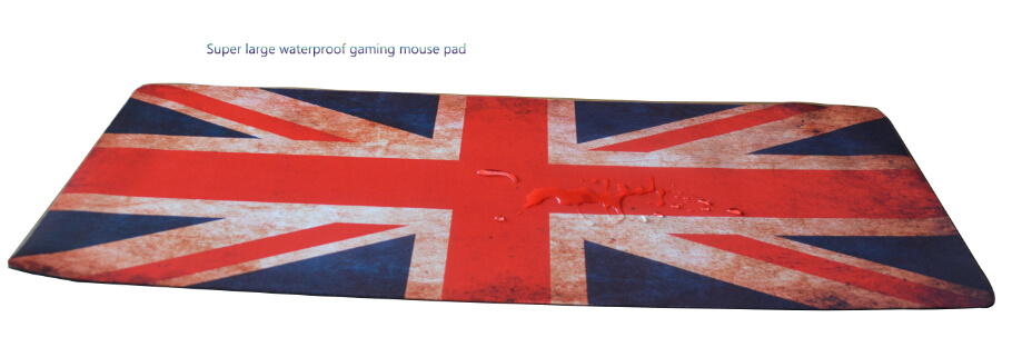 Super Large Waterproof Mouse Pad with British National Flag Design