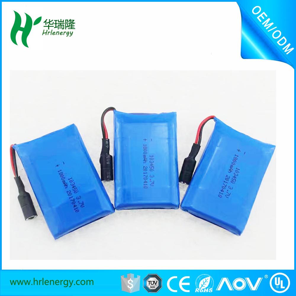 3.7V 103450 1800mAh Li Polymer Battery