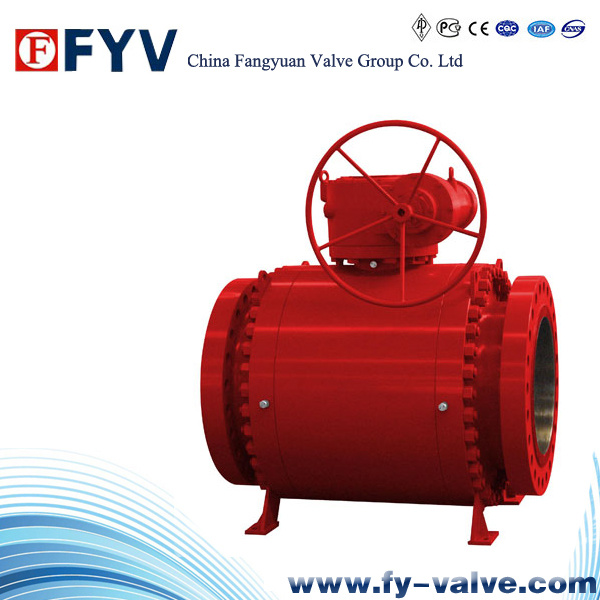 API 6D Full Bored Fixed Ball Valve with Gear