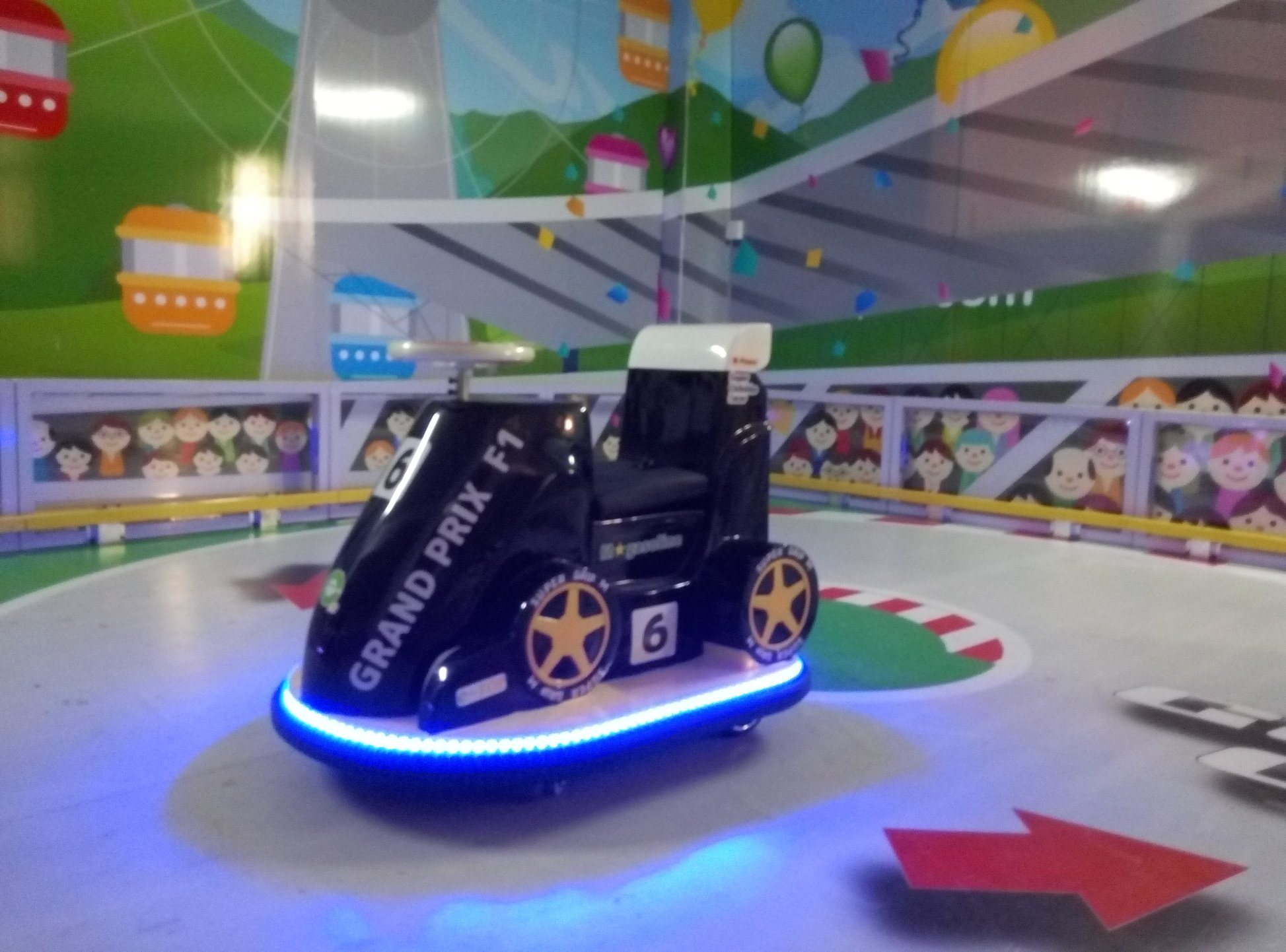 Racing Car Designed for Kids for Indoor Playground