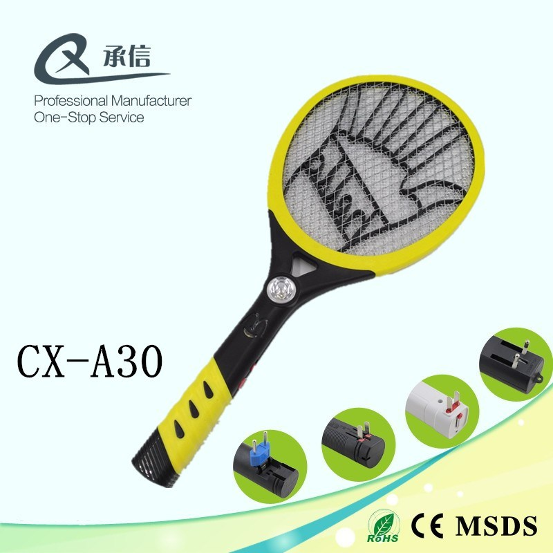 High Quality Custom Design ABS Electronic Mosquito& Insect Killer Swatter Bat with LED Anti Pest