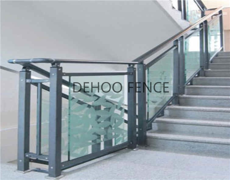 Modernized Galvanized Steel Glass Stair Handrail