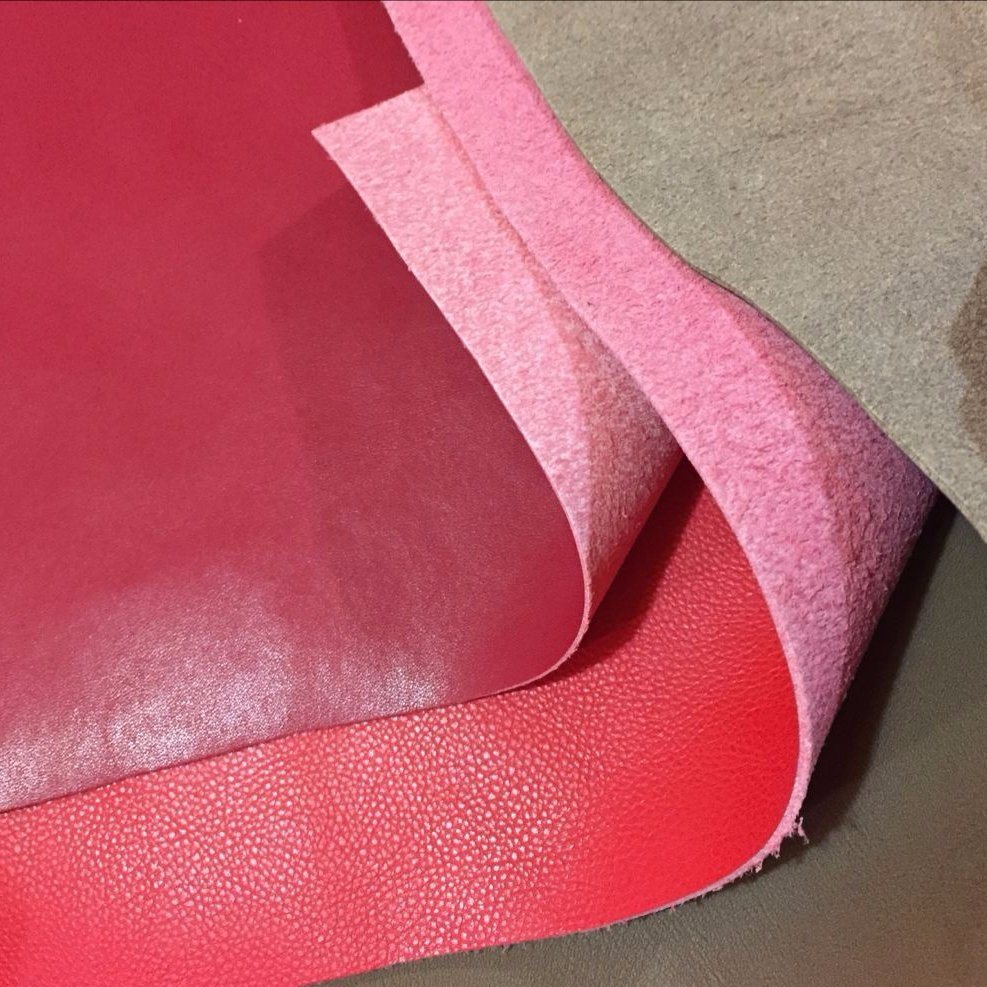 Synthetic Microfiber Leather Backing Color Same as Surface for Bags
