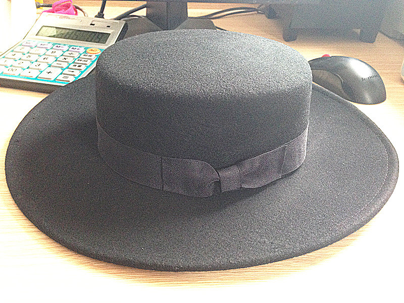 Flat Top Elegant England Style Hat High Quality Pork Pie Cap