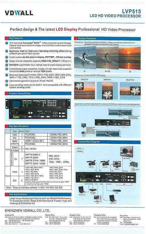 Lvp515 LED Video Processor